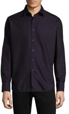Robert Graham Spruce Cotton Button-Down Shirt