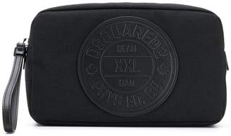 DSQUARED2 logo wash bag