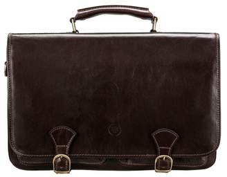 Maxwell Scott Bags Quality Brown Leather Business Satchel Bag For Men