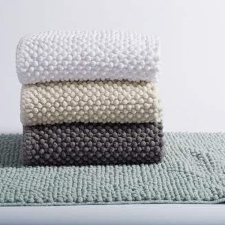 "Coyuchi Pebbled Chenille Organic Cotton Bath Rug, 30"" x 72"""