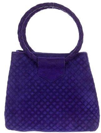 Bottega VenetaBottega Veneta Quilted Suede Handle Bag