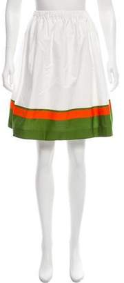 Prada Colorblock Knee-Length Skirt