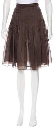 Derek Lam Silk Pleated Skirt
