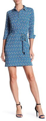Donna Morgan Belted Jersey Shirtdress $118 thestylecure.com
