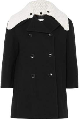 Altuzarra Double-breasted Wool-blend Coat - Black