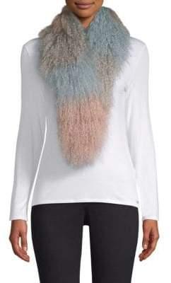 Jocelyn Ombre Lamb Fur Scarf