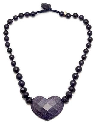 Lola Rose Gisella Blue Sandstone Necklace of 45 cm
