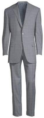 Canali Tonal Windowpane Wool Suit