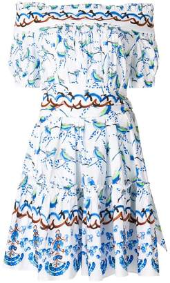 Peter Pilotto printed bardot dress
