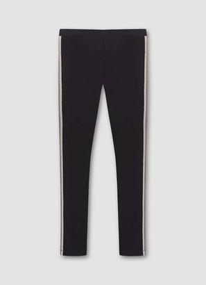 Mint Velvet Black & Gold Stripe Leggings