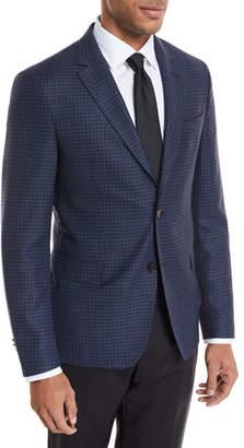 BOSS Small Windowpane Wool Jacket