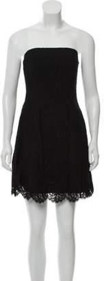Michael Kors Lace Strapless Dress Black Lace Strapless Dress