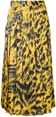 MSGM pleated mid-length skirt