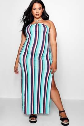 boohoo Plus Triangle Detail Maxi Dress