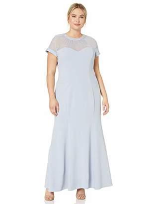 0300b69fc72 Alex Evenings Women s Long Shift Dress Illusion Neckline (Petite and  Regular)