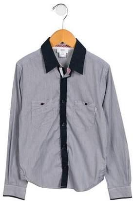 HUGO BOSS Boss by Boys' Striped Button-Up Shirt w/ Tags