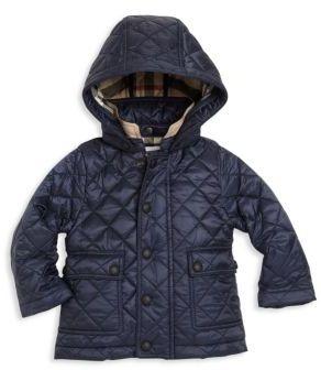 Burberry Baby's Jamie Hoodie Jacket $195 thestylecure.com