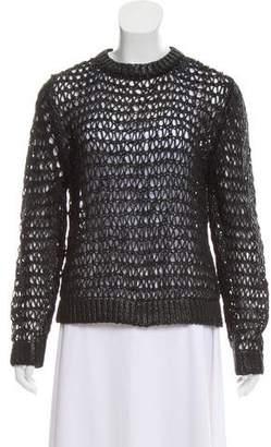 Balenciaga Coated Open Knit Sweater