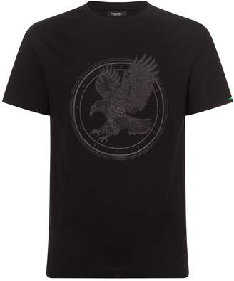 Stefano Ricci Flying Eagle Embroidered T-Shirt