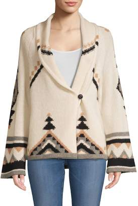 360 Cashmere Koko Bell-Sleeve Cashmere Cardigan