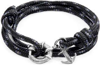 Clyde Silver & Rope Bracelet