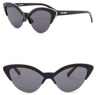 Steve Madden 58mm Novelty Cat Eye Sunglasses
