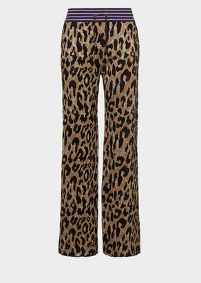 Versace Animalier Knit Sweatpants