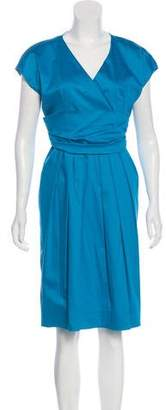 Max Mara A-Line Pleated Dress