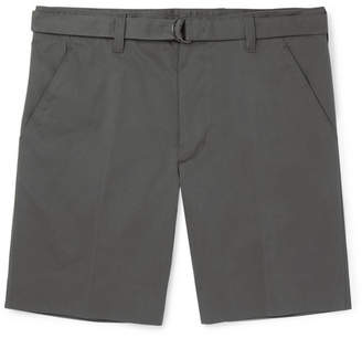 Prada Wide-Leg Cotton-Blend Gabardine Bermuda Shorts
