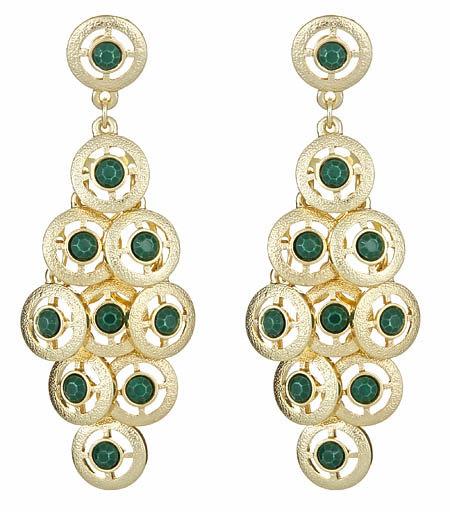 Roberta Chiarella Gold Coin Cascade Earrings