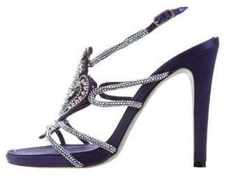 Rene Caovilla Crystal Multistrap Sandals
