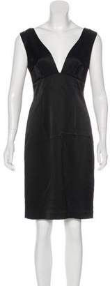 L'Agence Satin Knee-Length Dress