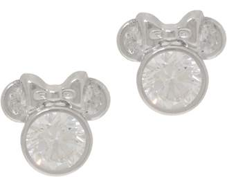 Disney Mickey's 90th Birthday Diamonique Minnie Studs, 14K Gold