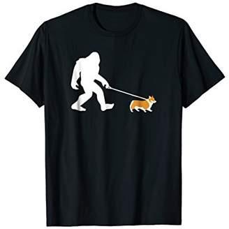 Corgi Bigfoot Walking Dog Shirt