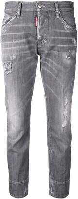 DSQUARED2 distressed boyfriend jeans