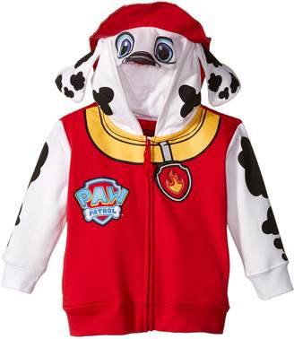Nickelodeon Little Boys' Paw Patrol Marshall Toddler Costume Hoodie, Red