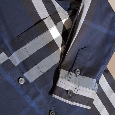 Burberry Check Cotton Button-down Shirt 4