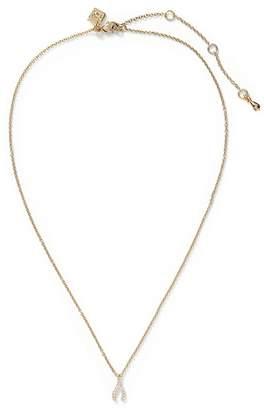 Banana Republic Pave Wishbone Pendant Necklace