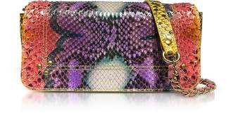 Jerome Dreyfuss Bob Nirvana Printed Python Leather Shoulder Bag
