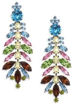 Kenneth Jay Lane Glass Stones Chandelier Earrings