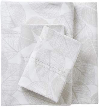 Melange Home 400 Thread Count Shadow Leaf Sheet Set - Gray