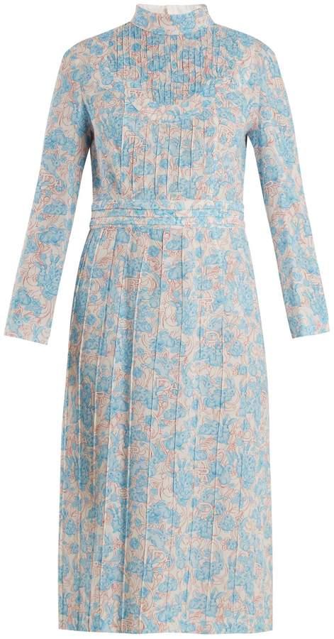 PRADA Sable rabbit-print dress