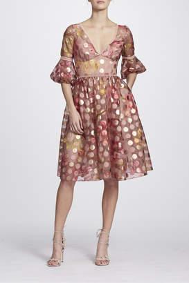 Marchesa Polka Dot Dress