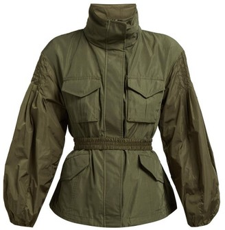 Moncler Santose Technical Gabardine Jacket - Womens - Khaki