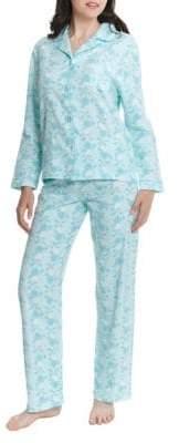 Jasmine Rose Two-Piece Floral Flannel Pyjama Set