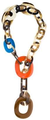 Hermes Lacquered Horn & Resin Necklace