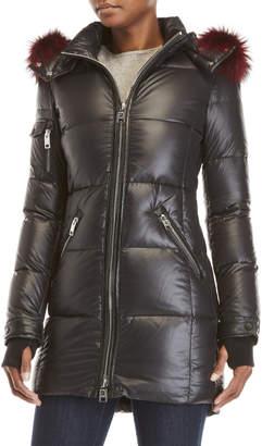 Nb Series By Nicole Benisti Real Fur Trim Coat