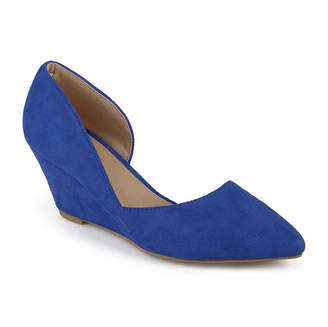 Journee Collection Womens Lenox Pumps Pointed Toe Wedge Heel