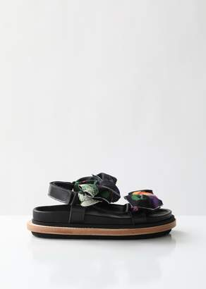 Sacai Flower Bow Tie Sandals