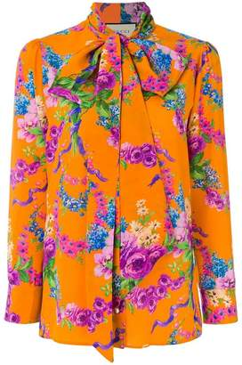 Gucci floral printed blouse